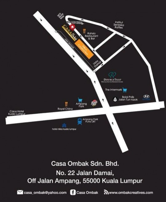 Lokasi Buffet Ramadhan Casa Ombak