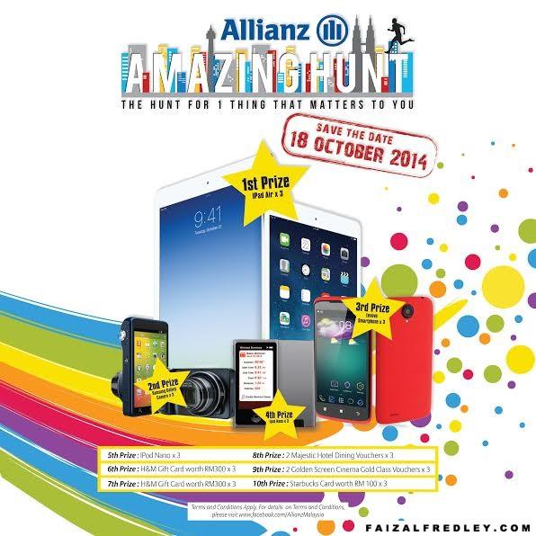 Memburu iPad air di Allianz Amazing Hunt 2014