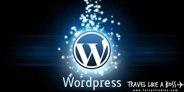 Perkara Perlu Dibuat Selepas Tukar Theme (Blog WordPress)